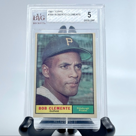 ⚾️1961 TOPPS #388 BOB CLEMENTE OUTFIELD PIRATES